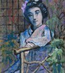 geisha op bankje